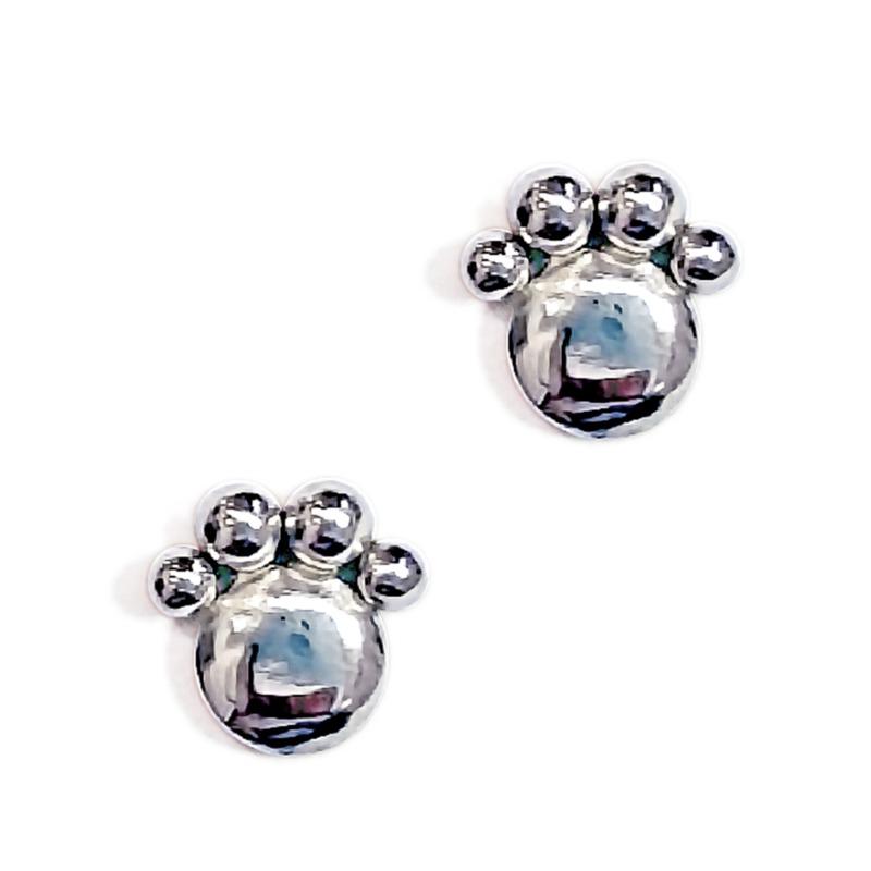 paw-silver-earrings