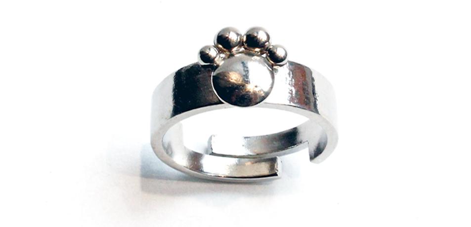 anello-zampa-argento