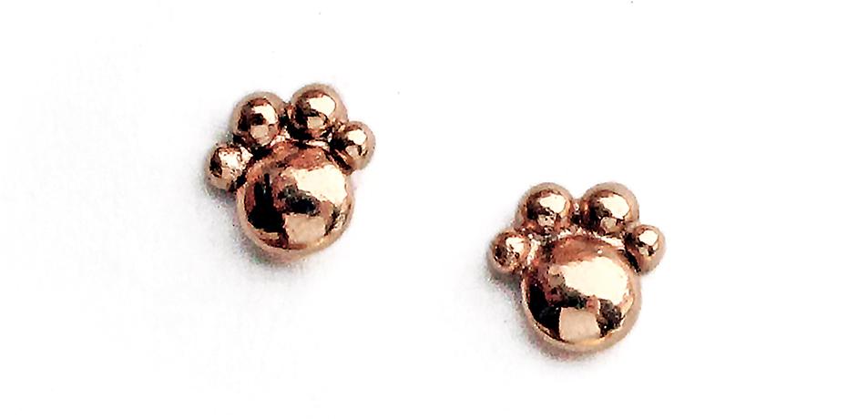 orecchino-zampetta-oro-rosa